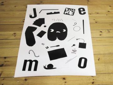 Jenny Mšrtsell: Promotionsaffisch fšr mig sjŠlv, screentryckt.
